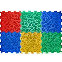 Массажний коврик Пазлы (6 элементов) Ортек