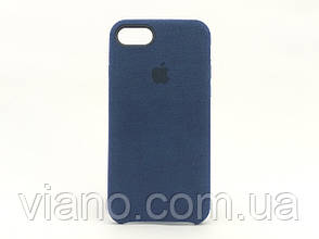 Замшевый чехол iPhone 7/8 (Тёмно-синий) Alcantara case