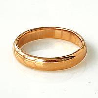 Кольцо обручальное классика 4мм xuping 17,18,20,22,23р. медзолото 8320