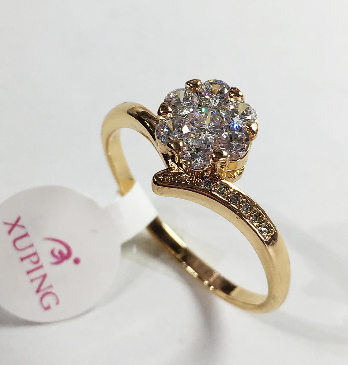 Кольцо Пион, размер 17, 19 ювелирная бижутерия XP