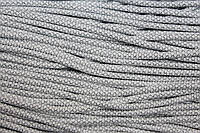 Шнур 6мм с наполнителем (100м) белый+серебро