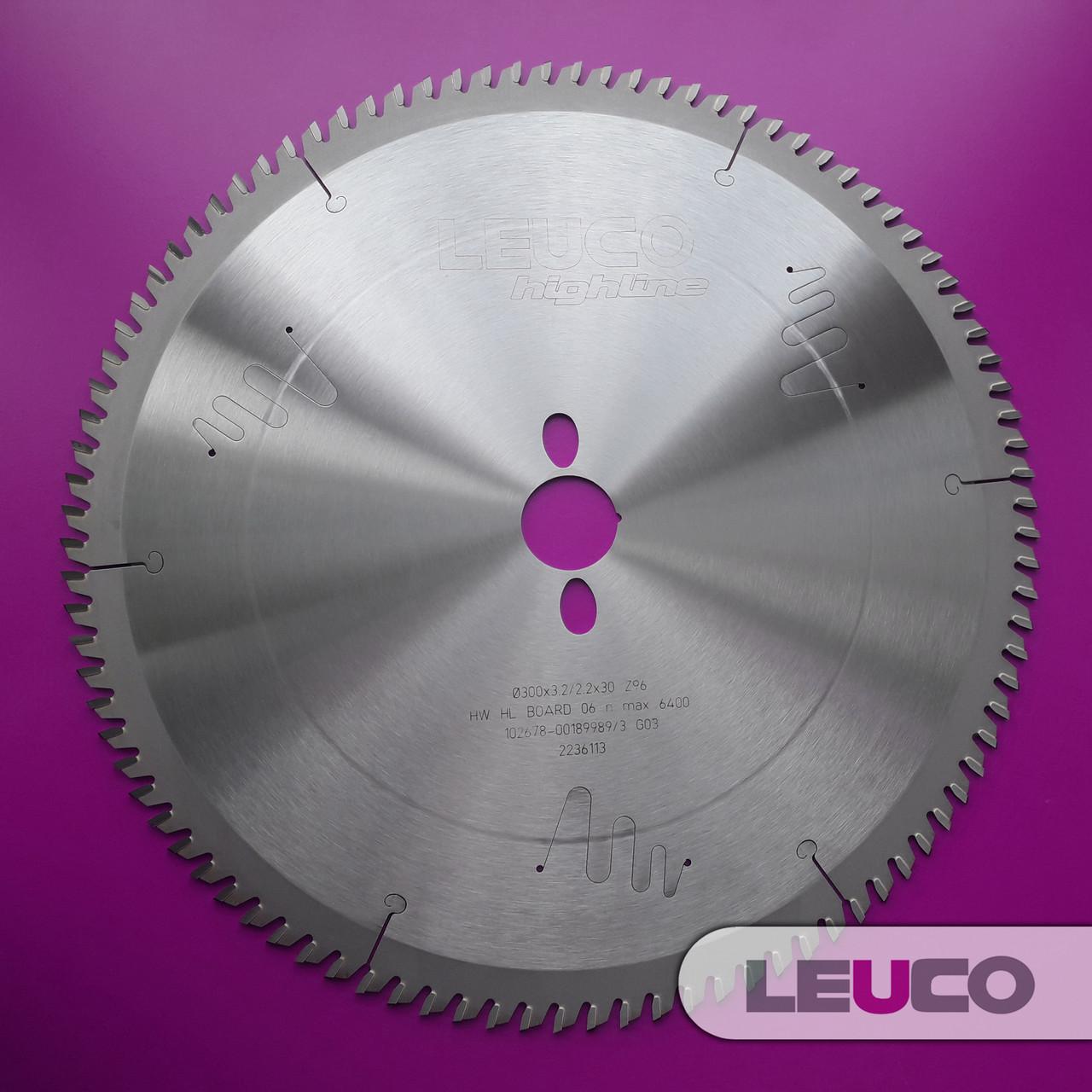 Основная дисковая пила Leuco для ДСП и МДФ 300x3,2/2,2x30 Z=96