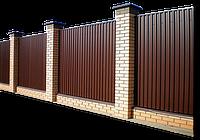 Забор из металлопрофиля 1,8 х 2,5 под ключ | Изготовление забора из металлопрофиля - стоимость производителя