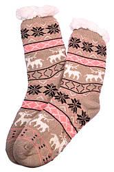 Носки тапочки женские BaGi Wool Олень Бежевый