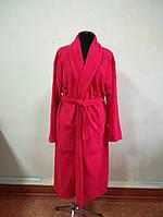 Махровый  халат красного цвета (XL), фото 1