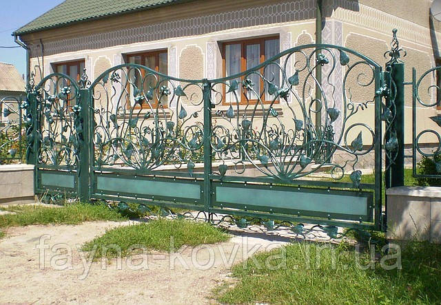 Ковані ворота (квіти ковані) 171