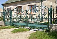 Ковані ворота (квіти ковані) 1750, фото 1