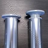 Ножка мебельная круглая IS 42GL-80 мм. алюминий глнцевый, фото 2
