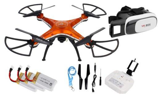 Квадрокоптер дрон D99A камера WI-FI очки VR 3D + 3xAKU Z299O