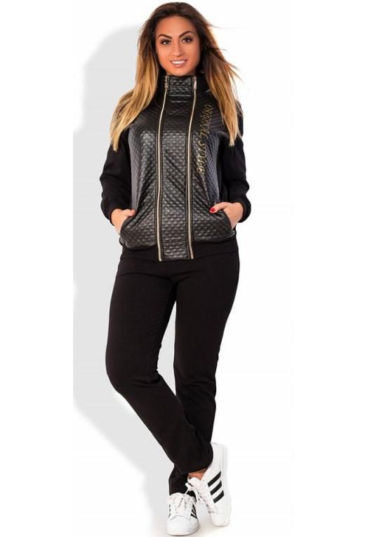 Спортивный костюм весна-осень двухнитка и экокожа размеры от XL 2140