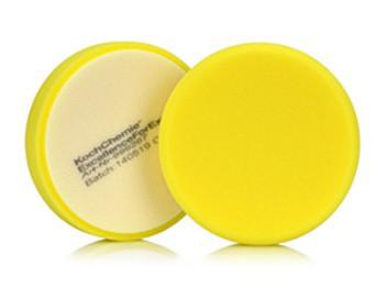 Koch Chemie жовтий напівтвердий полірувальний круг Ø 80х30 мм
