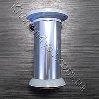 Ножка мебельная круглая IS 42GL-100 мм. алюминий глнцевый, фото 1