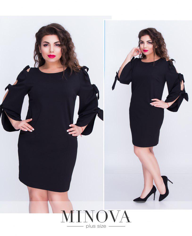 Платье бантики для пышных девушек  50-54