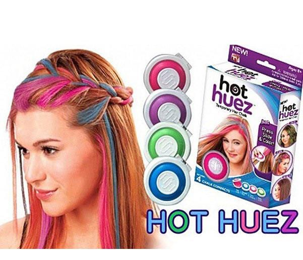 Набор цветных мелков для волос Hot Huez