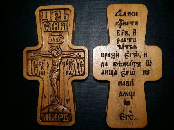 Крест параманный деревянный №03