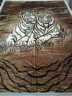 Плед акриловый двуспальный TRUE LOVE пара тигров