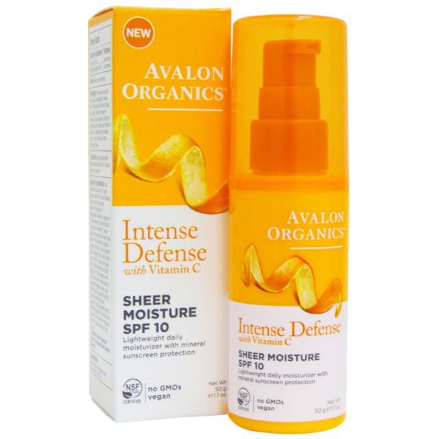 Увлажняющий лосьон для лица SPF10 с витамином С, биофлавоноидами лимона и экстрактом белого чая *Avalon Organ