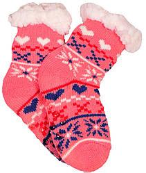 Носки тапочки детские EMI ROSS Сердечко Розовый