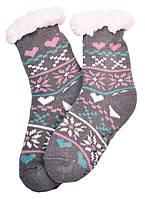 Носки тапочки детские EMI ROSS Сердечко Серый 32-35