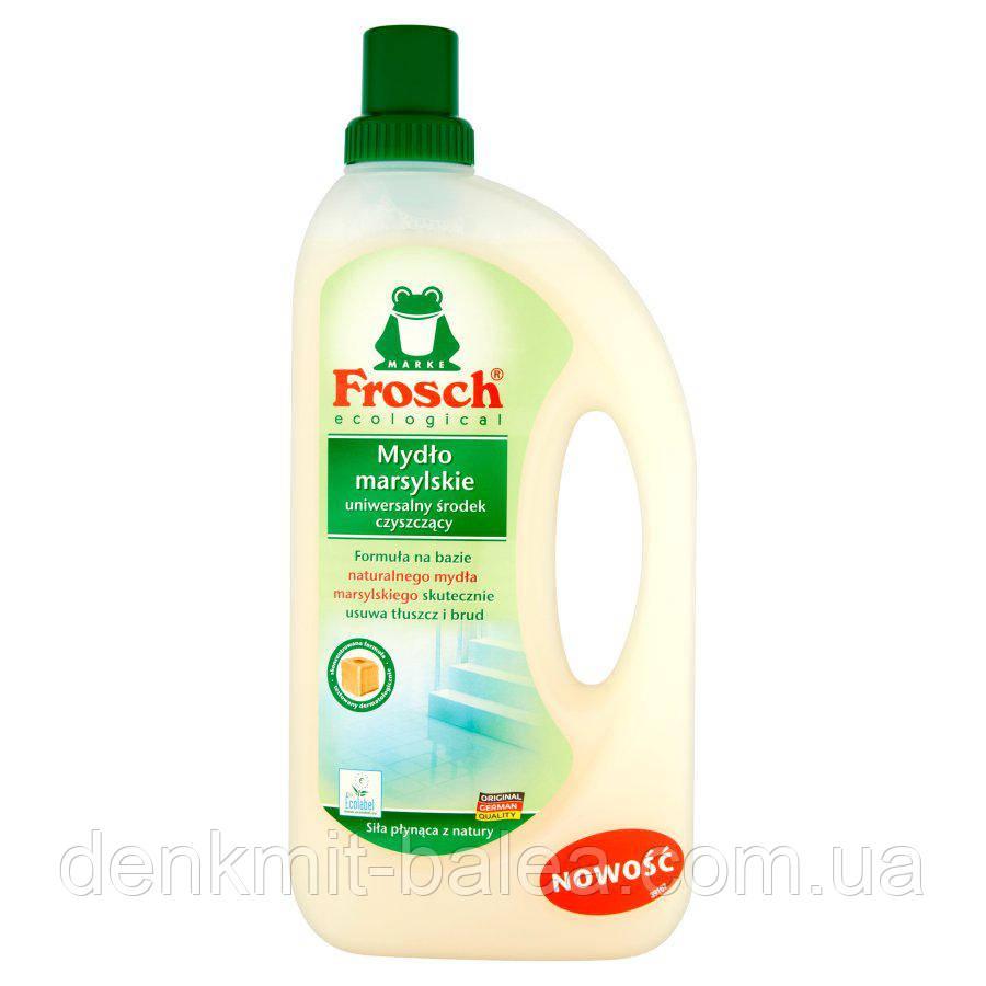Фрош - натуральное очищающее средство для всех видов поверхностей  Frosch Marselskie Mydlo 1000 мл
