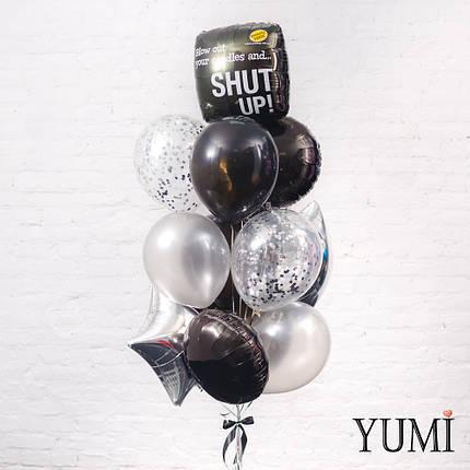 Стильная связка из 13 воздушных шаров для лучшего друга, фото 2