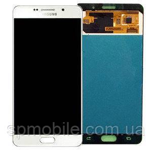 Дисплей Samsung A710 Galaxy A7 з сенсором Білий White оригінал , GH97-18229C