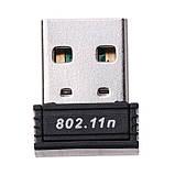 Міні USB WIFI мережевий адаптер150 Mbit Wi-Fi, фото 5