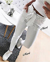 Брюки женские стильные в полоску, с поясом + (2 цвета)