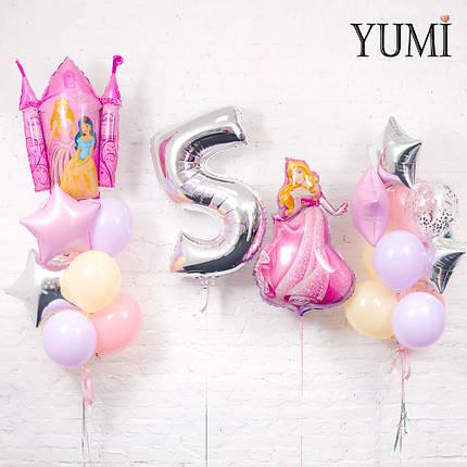 Оформление из воздушных шаров в стиле принцесс, фото 2
