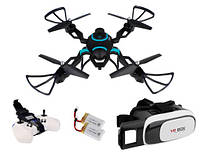 Квадрокоптер дрон QZ-S8 Air камера WI-FI Gogle VR 3D 2xAKU Z298O, фото 1