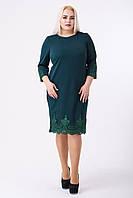 Платье Кружево зеленый, размер 50, 52, 54, 56,