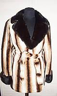 Шикарная шуба из стриженого бобра с норкой. Комиссионка