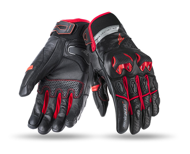 Мотоперчатки SEVENTY SD-N32 SUMMER NAKED MAN BLACK/RED