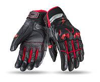 Мотоперчатки SEVENTY SD-N32 SUMMER NAKED MAN BLACK/RED, фото 1