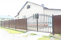 Забор и ворота из профнастила 2 х 2,5 | Изготовление металлического забора из профнастила, фото 1