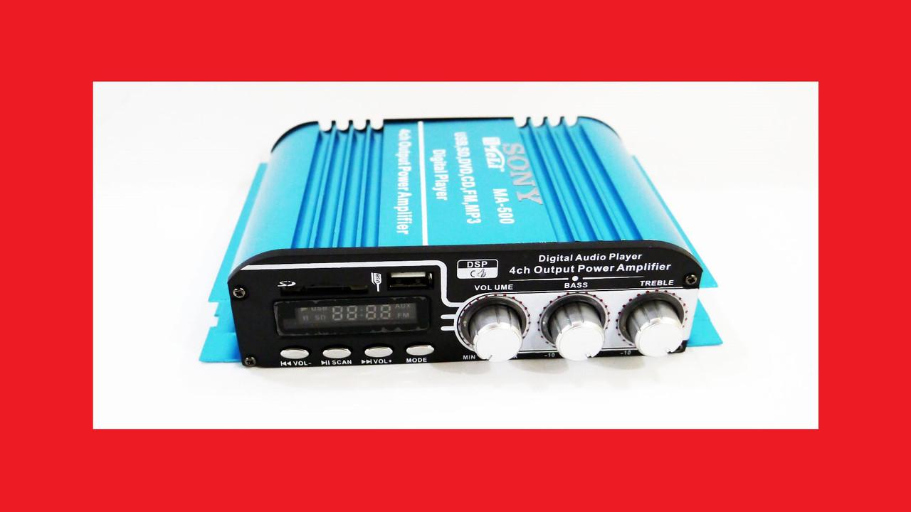 Усилитель Sony MA-500 - USB, SD-карта, MP3 4х канальный