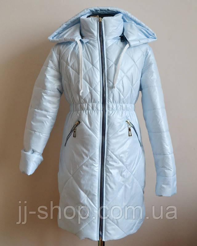 Детское пальто демисезооное на девочку синтепоне