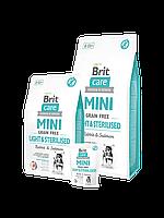 Корм Brit Care Брит Кеа  Mini Light Sterilised для стерилизованных собак мини пород контроль веса, 2 кг