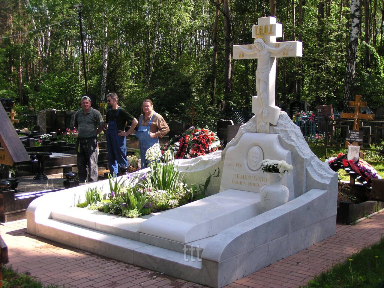 Крест с распятием Иисуса  из мрамора  № 19