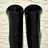 Ботфорты женские зимние кожаные, декорированы молнией, фото 10