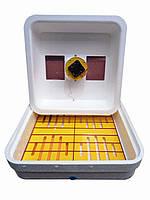 Инкубатор для яиц Рябушка 2 Smart 70 с механическим переворотом яиц (вентилятор, керамический нагреватель)