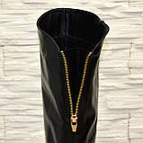 Женские кожаные зимние ботфорты на низком ходу, фото 10