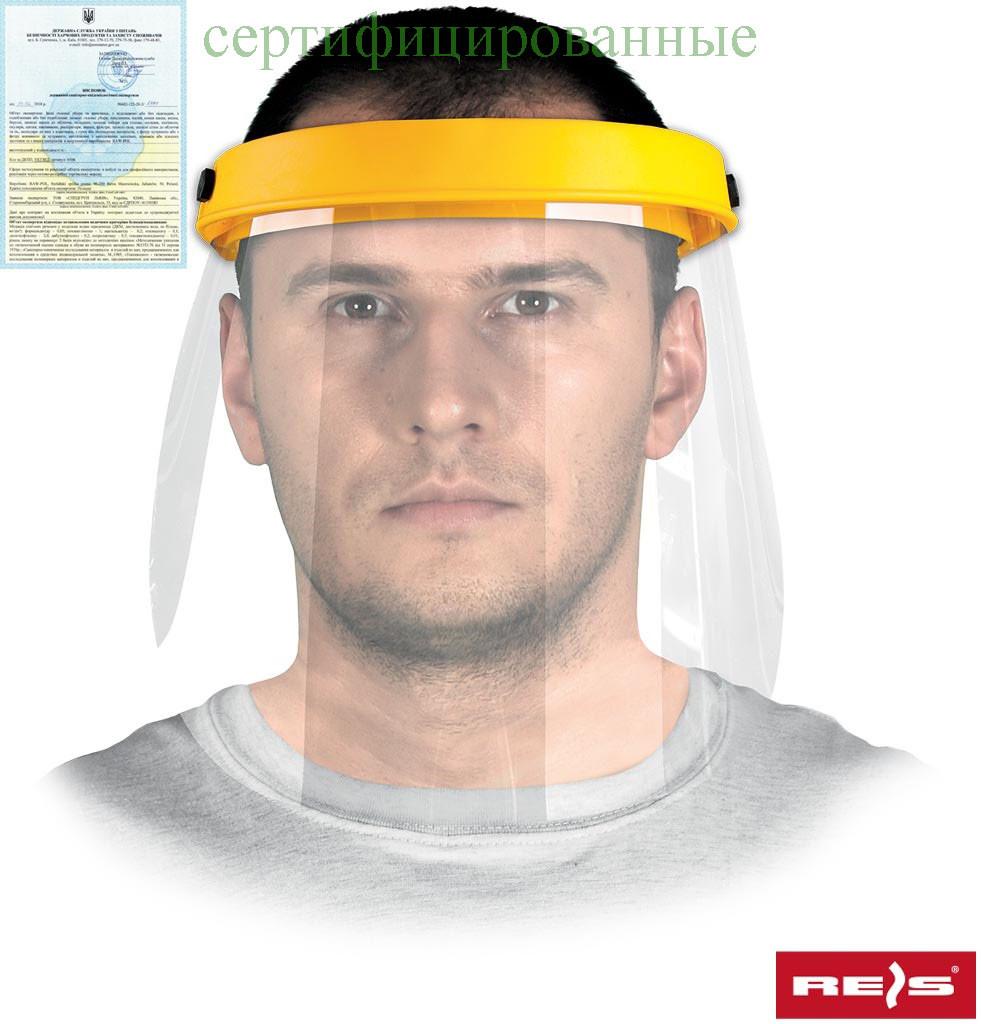 Защита для лица, состоящая из противоосколочного стекла, рамки и ленты, опоясывающей голову OTFS-VI-BRA Y