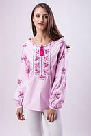 Розовая блуза вышиванка