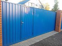 Ворота и заборы из профнастила 1,5 х 2,5 | Стоимость установки забора из профнастила от производителя