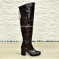 """Ботфорты зимние кожаные коричневого цвета от производителя ТМ """"Maestro"""", фото 1"""
