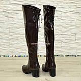 """Ботфорты зимние кожаные коричневого цвета от производителя ТМ """"Maestro"""", фото 3"""
