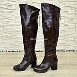 """Ботфорты зимние кожаные коричневого цвета от производителя ТМ """"Maestro"""", фото 4"""