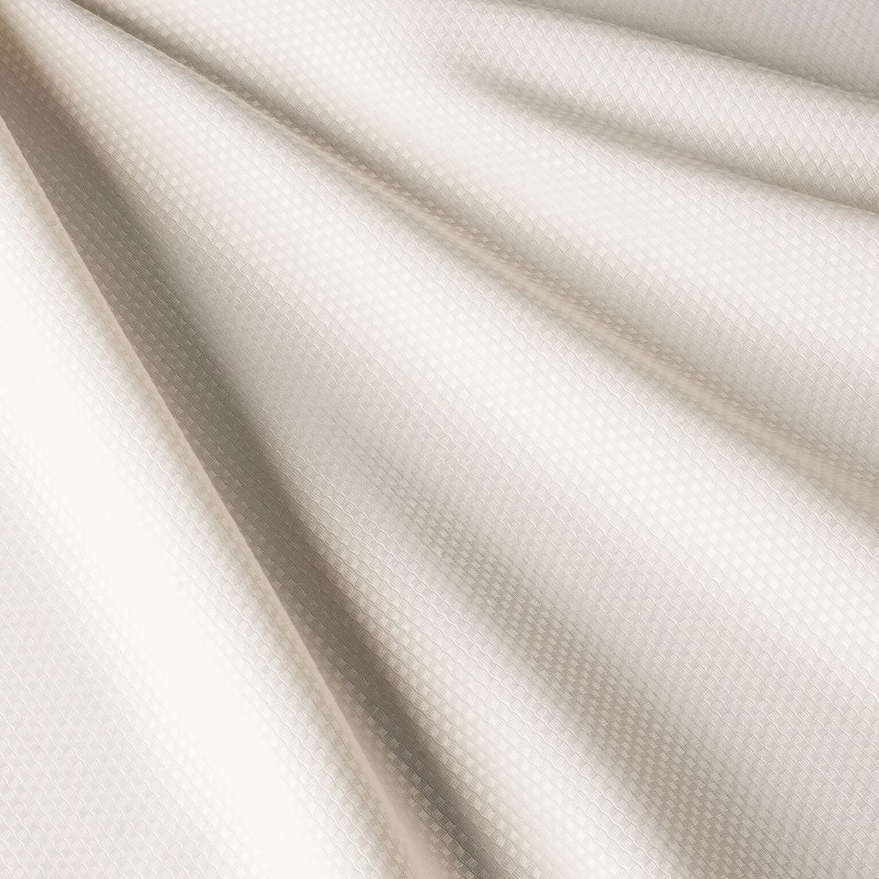 Ткань для скатертей и салфеток плетенная клетка кремовая (ресторан) 81547v8