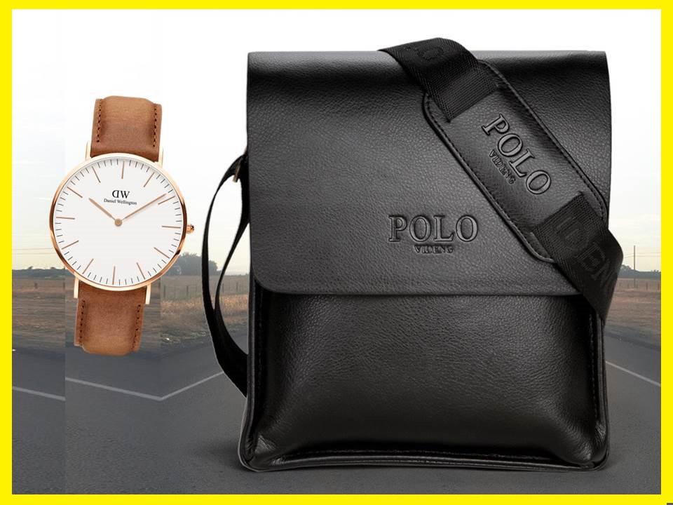 10764a840c86 АКЦИЯ!!! Мужская сумка через плечо Polo Videng. Часы в Подарок - Интернет